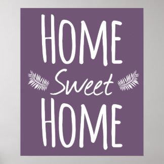 Affiche à la maison douce à la maison de typograph