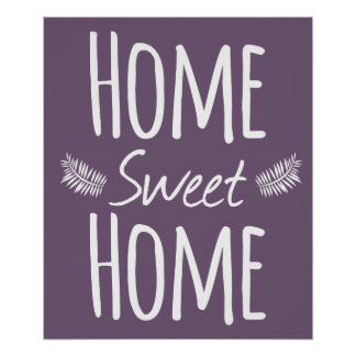 Affiche à la maison douce à la maison de typograph posters