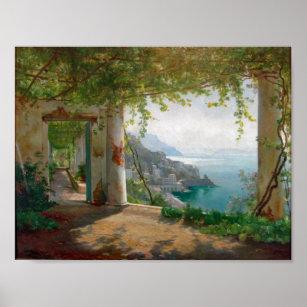 Affiche Aagaard Loggia Amalfi Italie Peinture