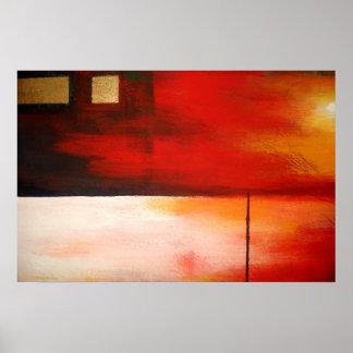 Affiche abstraite d art de peinture d original mod