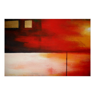 Affiche abstraite d'art de peinture d'original mod