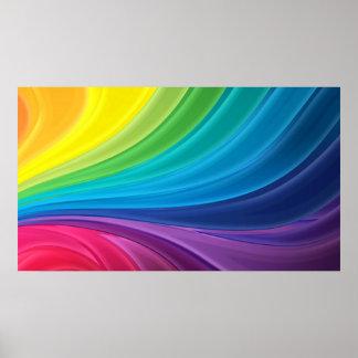 Affiche abstraite de remous d'arc-en-ciel