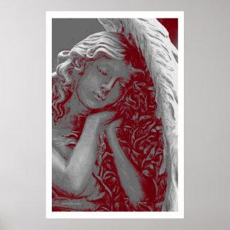 Affiche affectueuse de l'ange 36 x 24
