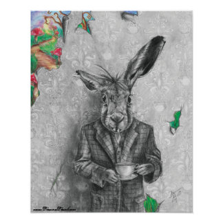Affiche Alice de lièvres de mars en affiche du Poster