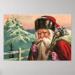 Affiche alpine de Père Noël
