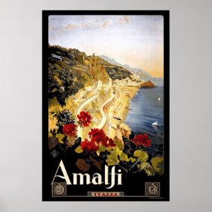 Affiche Amalfi, Italie Tourisme Vintage voyage