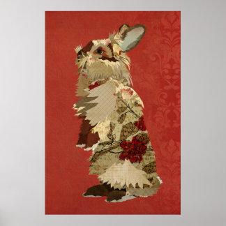Affiche angora d'art de lapin