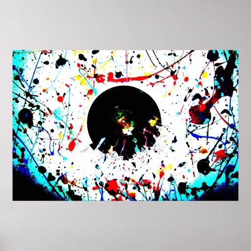 Affiche artistique de vinyle vif