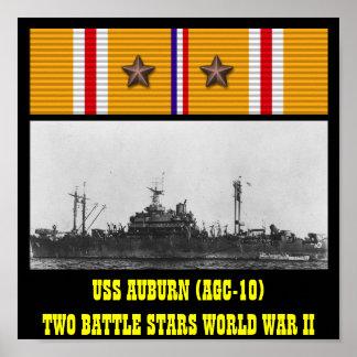 AFFICHE AUBURN D USS AGC-10