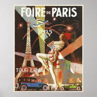 Affiche avec la copie d'art déco de Paris des anné Posters