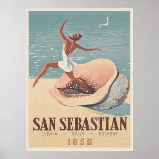 Affiche avec la copie de la publicité de San Sebas
