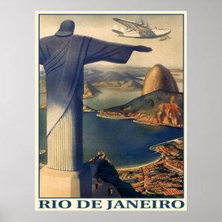 Affiche avec la copie vintage de Rio de Janeiro Posters