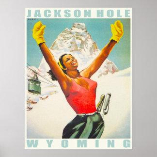 Affiche avec la copie vintage de ski d'Aspen