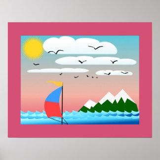Affiche (bateau à voile)