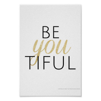 affiche beYOUtiful Posters