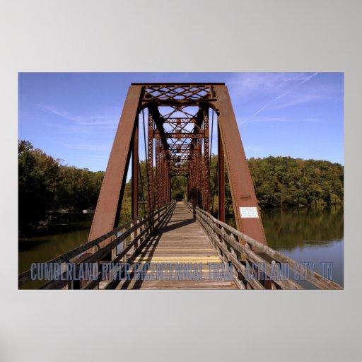 Affiche bicentenaire de pont de traînée du comté