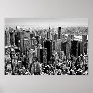 Affiche blanche noire de New York City