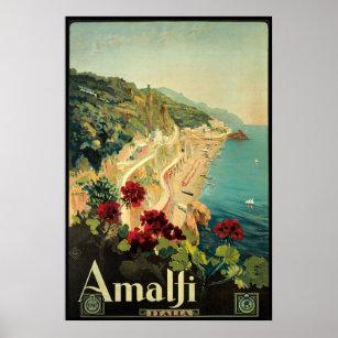 Affiche Campanie Italie de Borgoni Amalfi