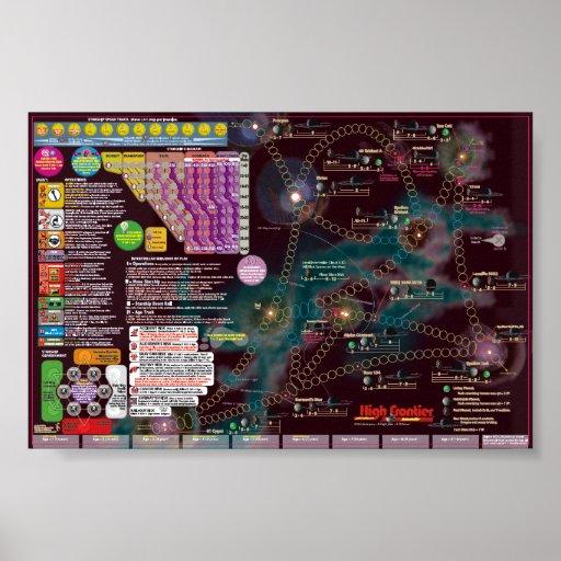 Affiche-Carte interstellaire - solitaire de fronti