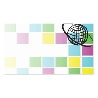 affiche cartonnée publicitaire dans les moyens de  carte de visite standard