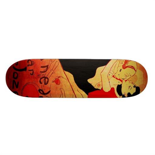 Affiche célèbre de Reine De Joie 1892 Skateboards Personnalisés