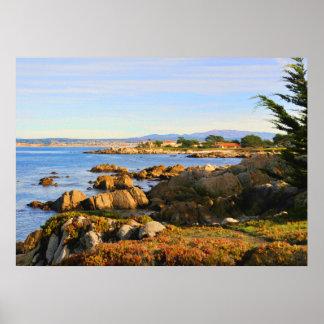 Affiche centrale de côte de la Californie