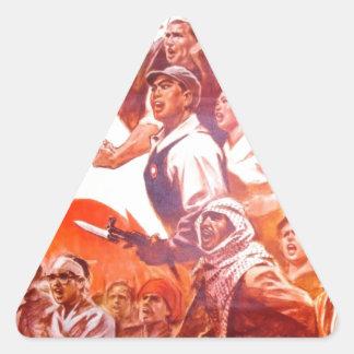Affiche chinoise d'art sticker triangulaire