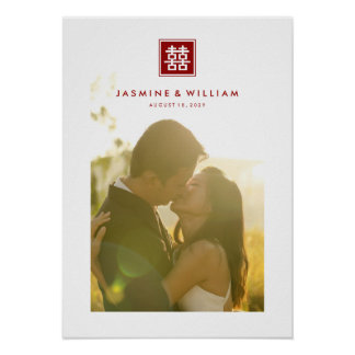 Affiche chinoise de photo de mariage de double posters