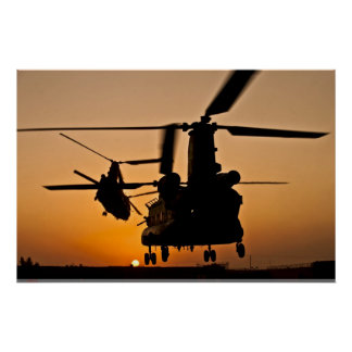 AFFICHE CHINOOK DE L'HÉLICOPTÈRE CH-47 POSTER