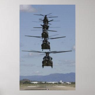 AFFICHE CHINOOK DE L'HÉLICOPTÈRE CH-47 POSTERS