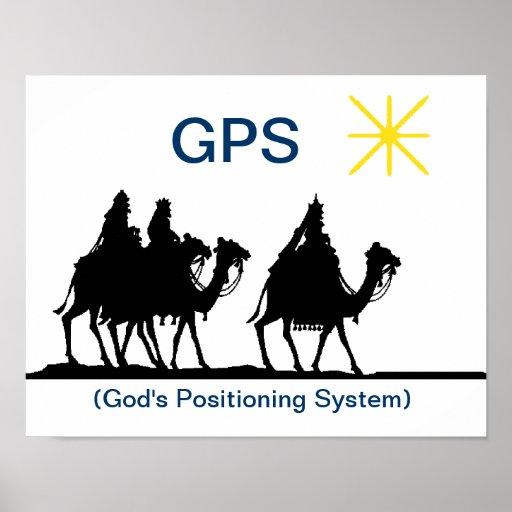 Affiche chrétienne de Noël de GPS