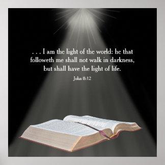 Affiche chrétienne - je suis….Monde - vers de