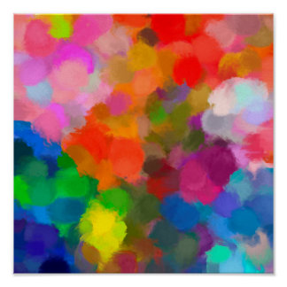 Affiche colorée abstraite de traçages de peinture