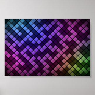 Affiche colorée de labyrinthe de bloc