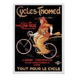 "Affiche/copie : Cycles Tnomed ""le cowboy "" Poster"