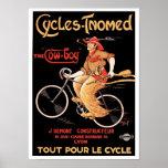 "Affiche/copie : Cycles Tnomed ""le cowboy "" Posters"