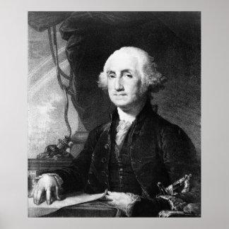 """Affiche/copie """"de portrait de George Washington"""" Affiche"""