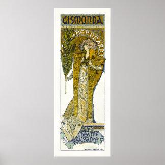 Affiche/copie : Mucha - Sarah Bernhardt - Gismonda