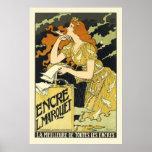 Affiche/copie :  Poster vintage de Nouveau d'art