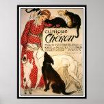 """Affiche/copie : Steinlen vintage """"clinique Cheron"""