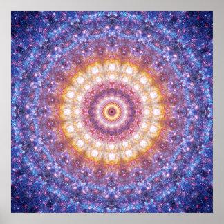 Affiche cosmique de mandala