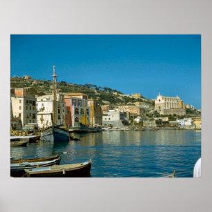 Affiche Côte d'Amalfi, bord de mer de Salerno
