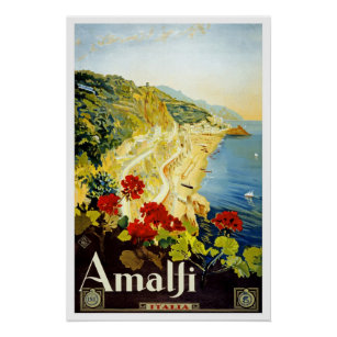 Affiche Côte d'Amalfi, Italie