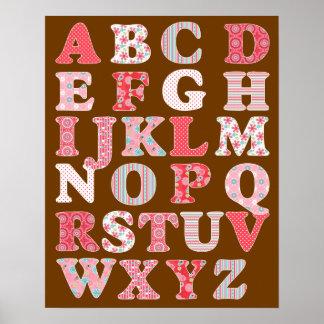 Affiche d alphabet pour la fille