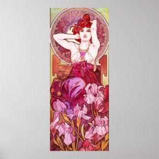 Affiche d améthyste d Alphonse Mucha
