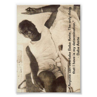 Affiche d Amte de baba Sur la détermination