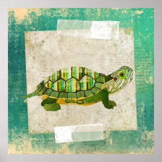 Affiche d art de tortue de jade
