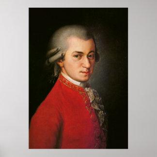 Affiche d art de Wolfgang Amadeus Mozart