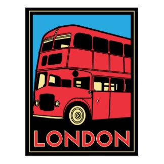 Affiche d art déco de Londres Cartes Postales