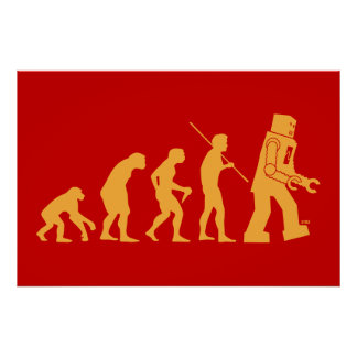 Affiche d évolution de robot
